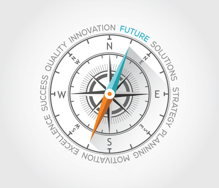 Vector compass about future