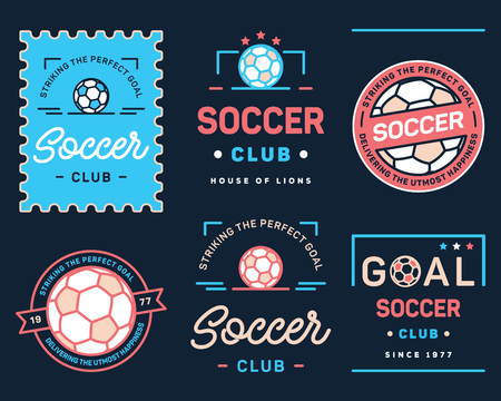 It's a vector collection of simple football badges and crests