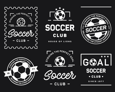 It's a vector collection of simple football badges and crests.