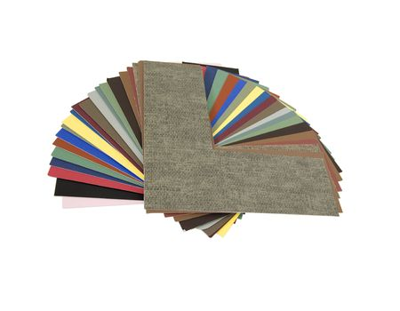 Photo pour An assortment of colored matboard for designing an art framing project - path included - image libre de droit