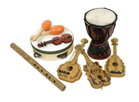 Various musical instruments for enjoying and appreciating music - path included
