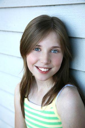 pretty pretten girl with blue eyes