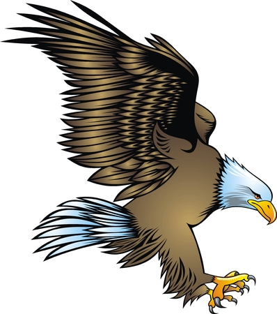 Illustration pour illustrated nice eagle isolated on white background - image libre de droit