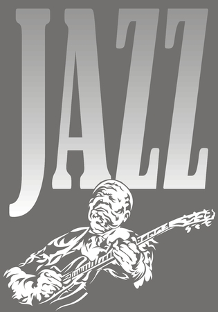 jazz musician - black and white music background with people