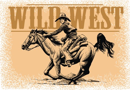 old cowboy and horse from wild wide west