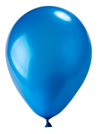 close-up dark blue balloon, isolated on white