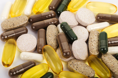 close-up dietary supplements, capsules and pills
