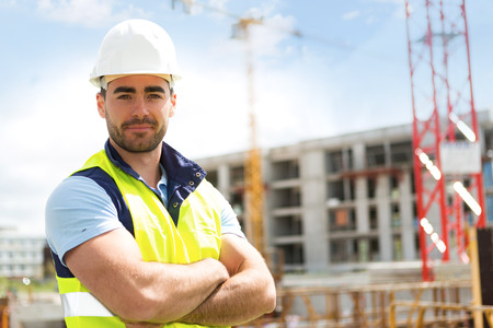 Photo for View of an attractive worker on a construction site - Royalty Free Image