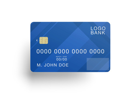 Foto de Mock up view of a credit card - Imagen libre de derechos