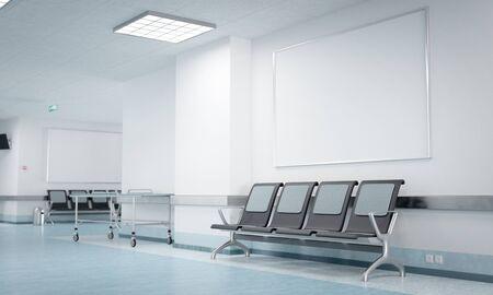 Foto de Hospital corridor poster mockup - Imagen libre de derechos