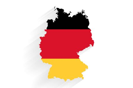 Germany horizontal flag map on gray background, vector, illustration, eps 10 file