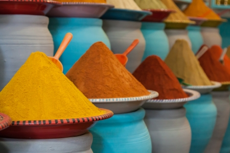 Spices at the market Marrakech, Morocco