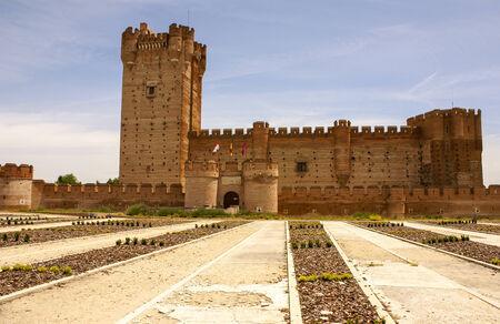 castle of the mota in medina del campo,valladolid,spain