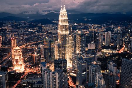 Kuala Lumpur,Malaysia,December 19,2013:KL Petronas Towers at night