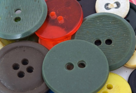 An assortment of coloured buttons