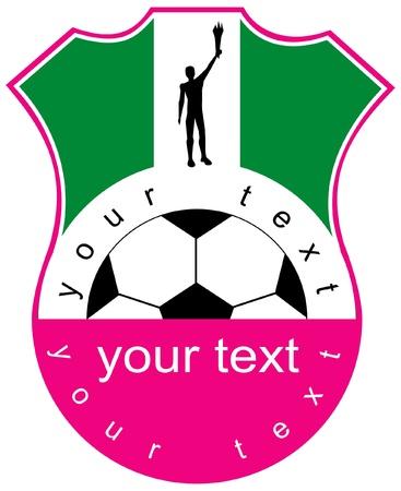 Ilustración de coat of arms of soccer club - Imagen libre de derechos