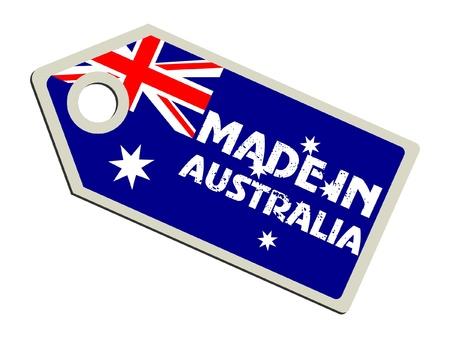 Vektor für Made in Australia - Lizenzfreies Bild