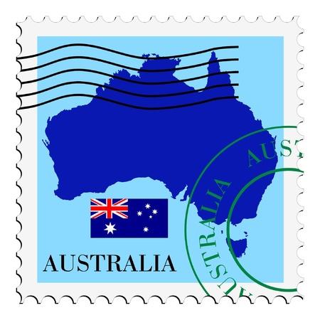 Vektor für mail to/from Australia - Lizenzfreies Bild