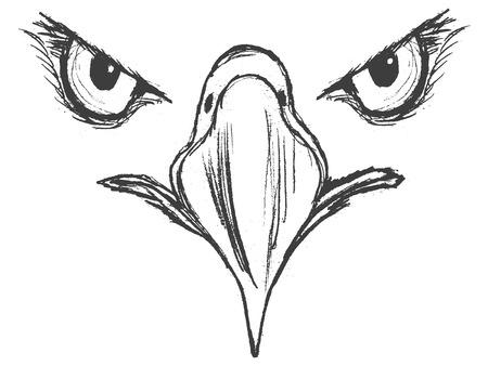 Ilustración de Hand drawn illustration of eagle - Imagen libre de derechos