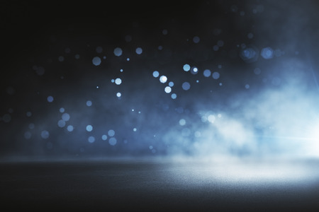 Photo for Creative blurry outdoor asphalt wallpaper with mist  - Royalty Free Image
