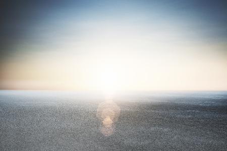 Foto de Abstract beautiful asphalt and blue sky backdrop  - Imagen libre de derechos