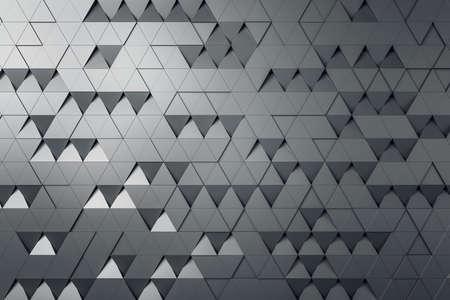 Photo pour Gray triangular particles background abstract design, wallpaper concept, 3d rendering - image libre de droit