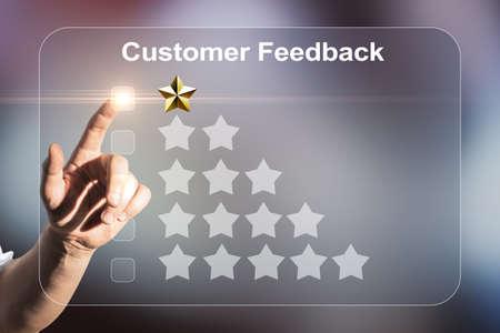Photo pour Abstract negative customer feedback background. Ranking concept - image libre de droit