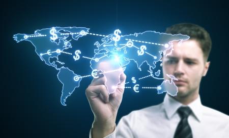 world money traffic concept