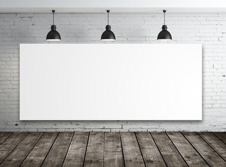 Photo pour poster in room with ceiling lamp - image libre de droit