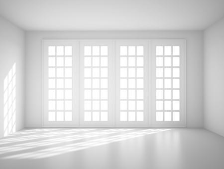 Foto de light white room with big window - Imagen libre de derechos