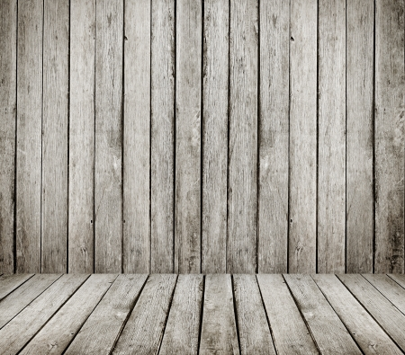 High resolution grunge wooden room