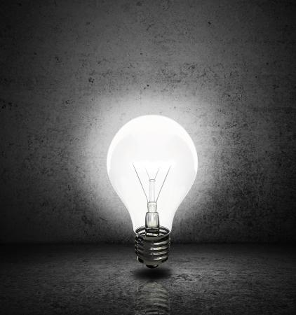 high resolution lightbulb with  dark room