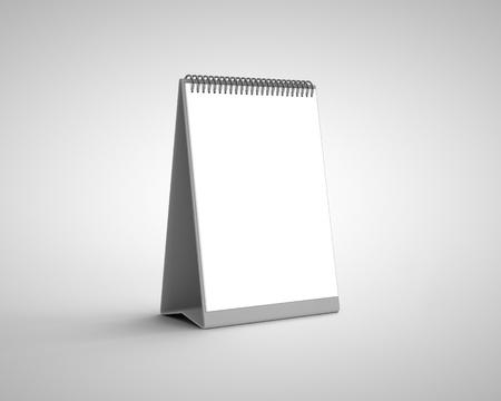 blank calendar on a white background