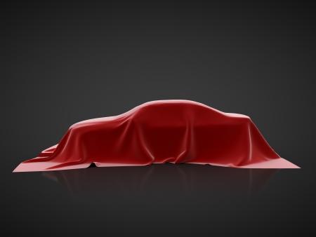 car presentation on a black background