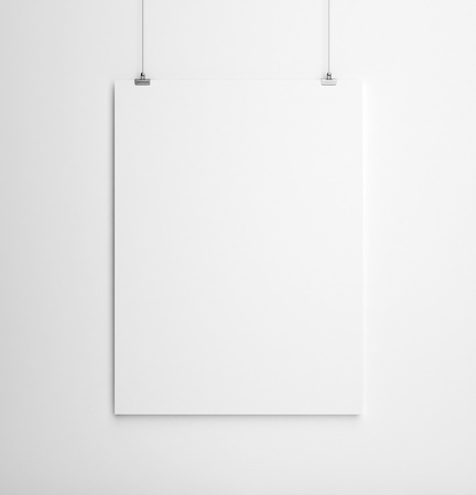 paper card on white wall