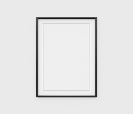 Foto de black frame on white wall - Imagen libre de derechos
