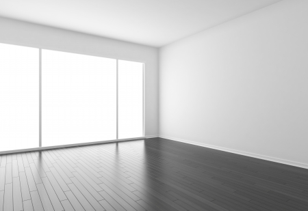 empty room with black parquet