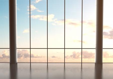 Foto de big hall airport and blue sky - Imagen libre de derechos
