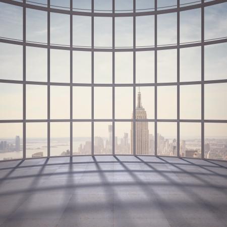 big office with big window