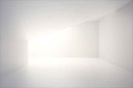 Photo for Empty interior design with blank white concrete wall and sunlight. Mock up, 3D Render - Royalty Free Image