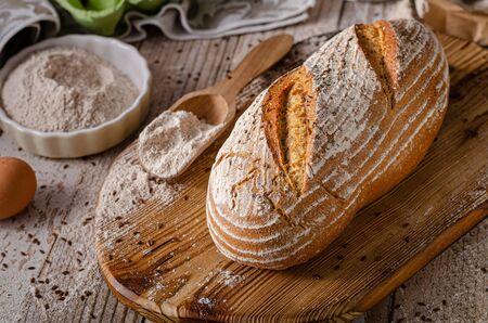 Foto für Delicious homemade caraway bread, homemade sourdough bread - Lizenzfreies Bild