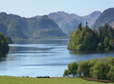 A view of Derwent Water in the Lake District of England
