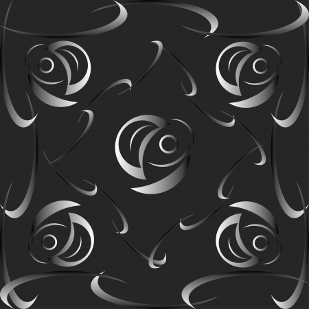 Black and white texture with subtle gradients and beautiful shapes. Fully editable.