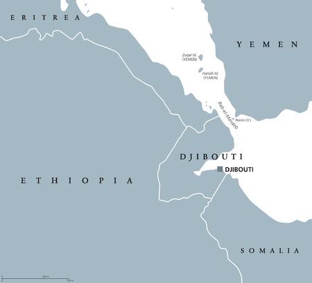 Africa Map Red Sea.Bab El Mandeb Strait Region Political Map English Labeling