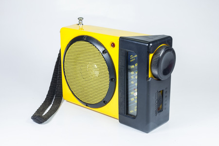 Radio Old yellow on a white background