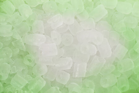 Ice background  in green light