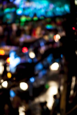 Bokeh background, blur, road, light, night