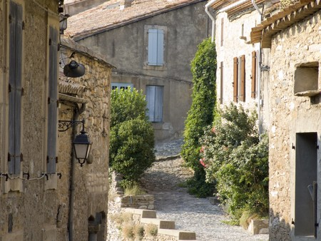 little alley in a small village in the provence