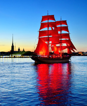 Holiday Scarlet sails in St.Petersburg, Russia