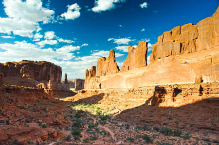 Park Avenue Trail in Arches National Park Utah USA